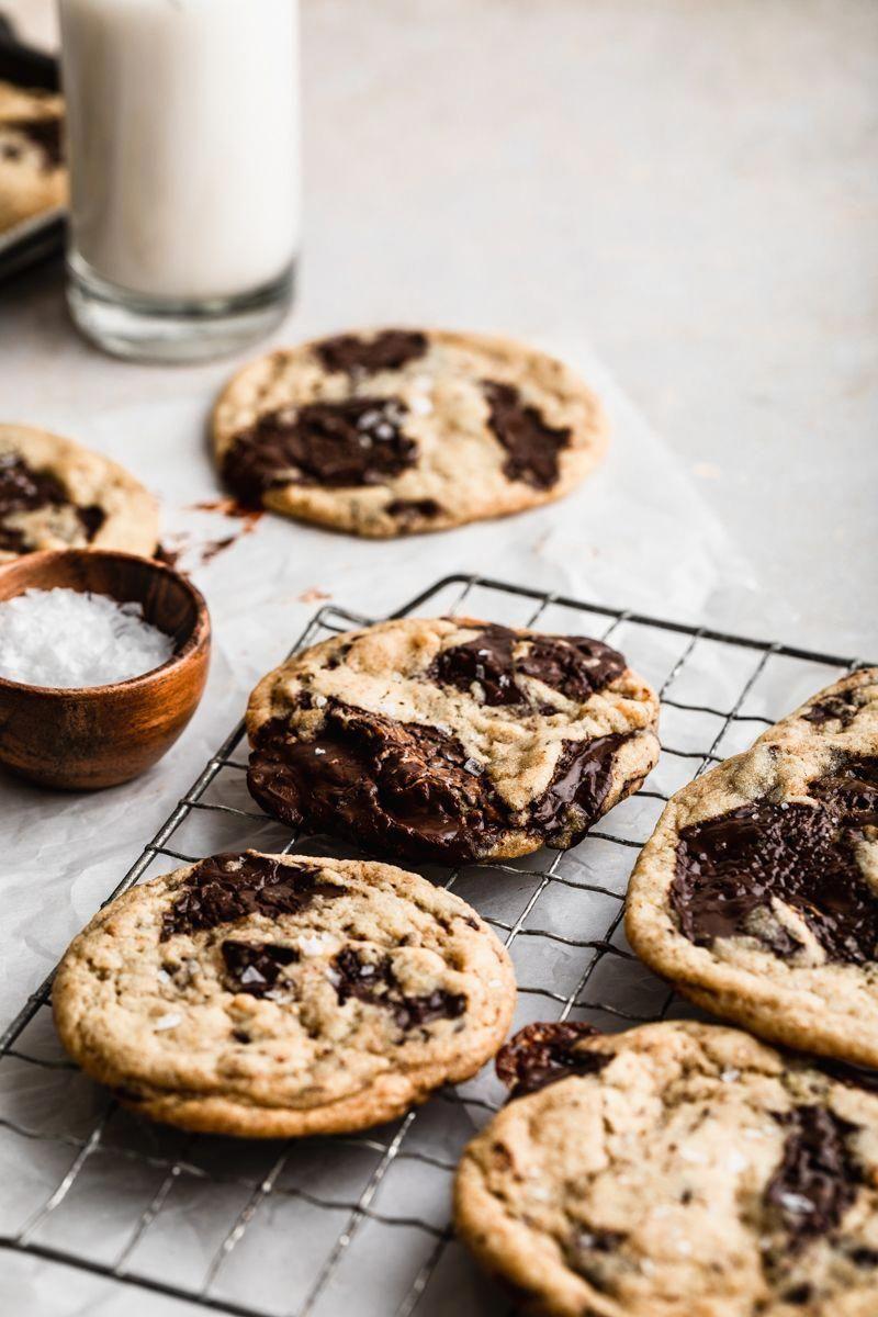 Giant Vegan Chocolate Chunk Cookies Recipe Vegan Chocolate Chip Cookies Chocolate Chip Cookies Cookie Recipes