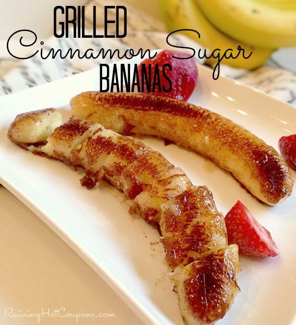 Grilled Bananas Recipe (Cinnamon Sugar Coconut Oil!)
