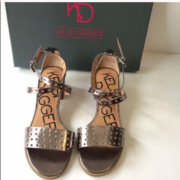 c62de9353305 Nwb kelsi dagger heel 6.5 New with box silver heeled sandal! Never worn!  Kelsi