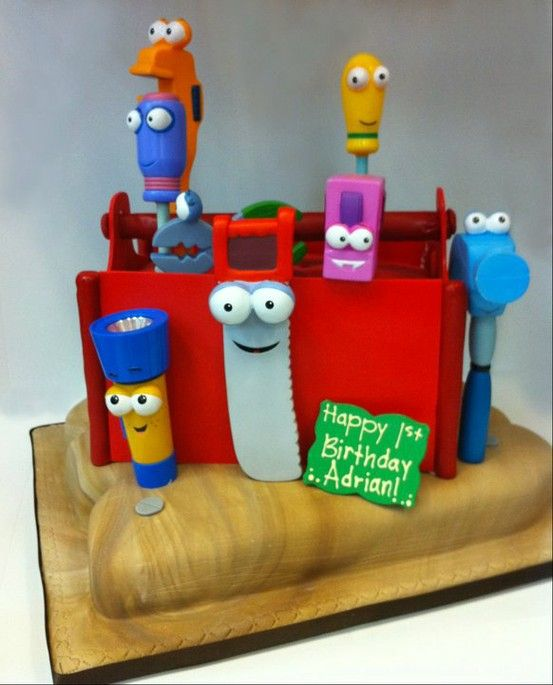 Tool box Birthday cake.