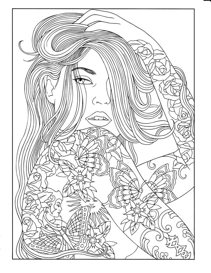 Body Art Tattoo Designs Coloring Book People Coloring Pages Animal Coloring Pages Mandala Coloring Pages