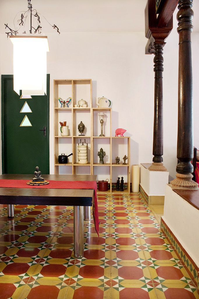 ATHANGUDI Tiles - Chettinadu Style Interiors | Pinterest | Wooden ...