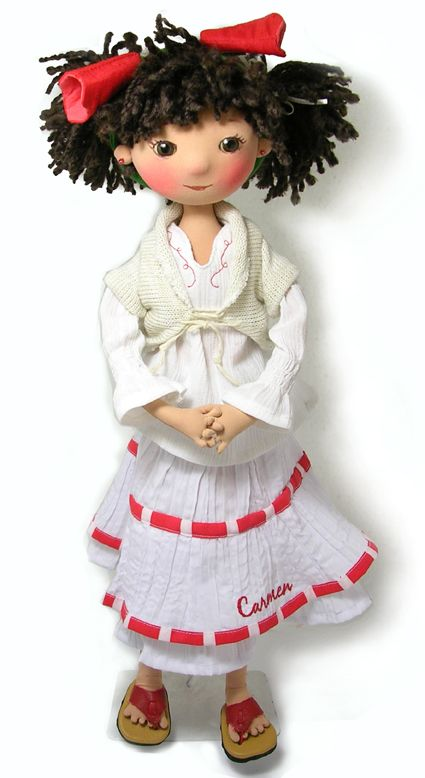 fabric doll, muñeca de tela