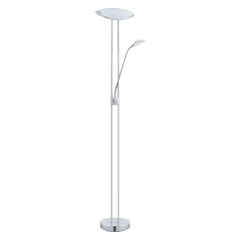 a962ee66a7 Mother and Son Torchiere Floor Lamp with Frosted Shade-17539-000 - The Home  Depot