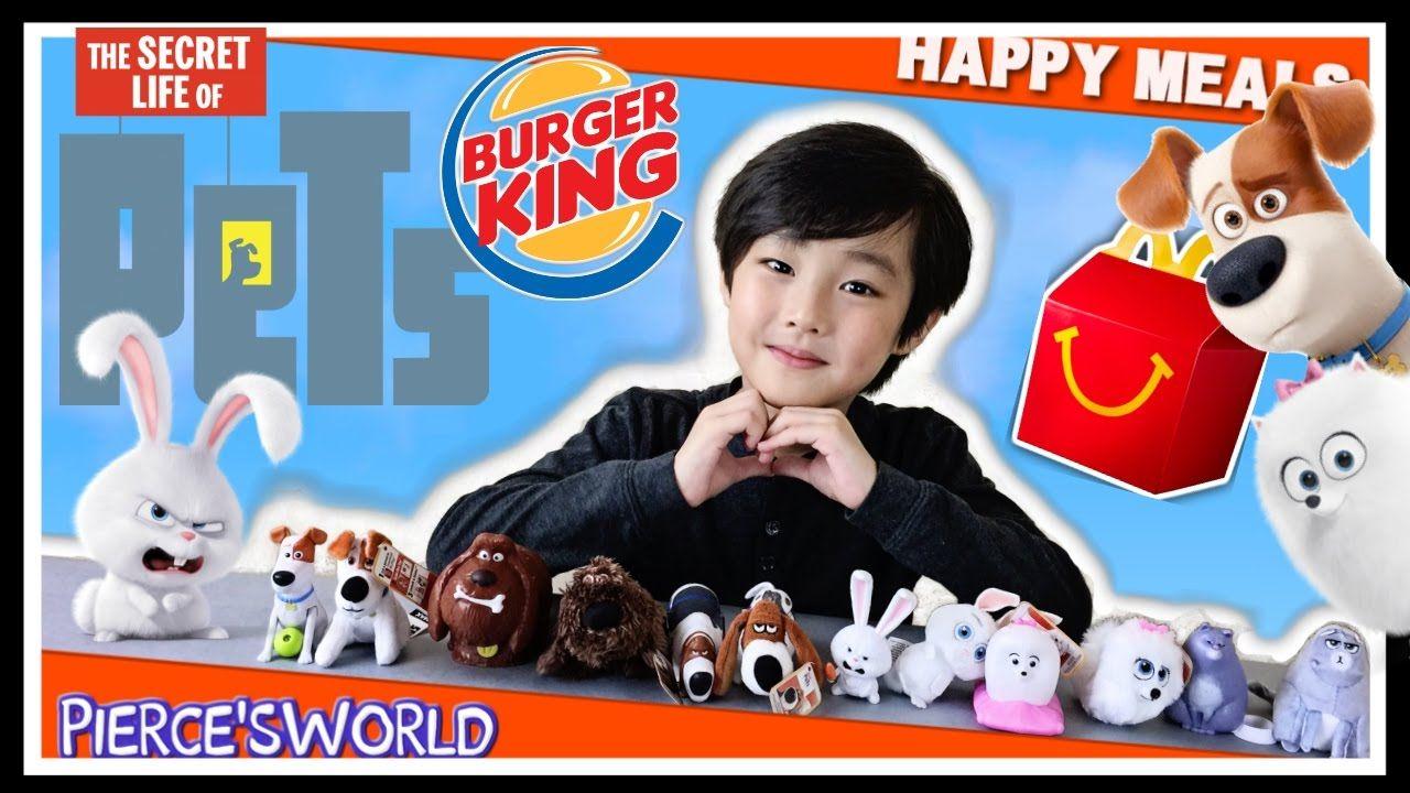 Secret Life Of Pets Mcdonald S Happy Meal Toys Burger King Kids Meal T Happy Meal Toys Happy Meal Mcdonalds Happy Meal