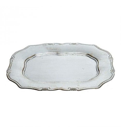 PLASTIC PLATE IN ANTIQUE SILVER COLOR 38X26X2_5