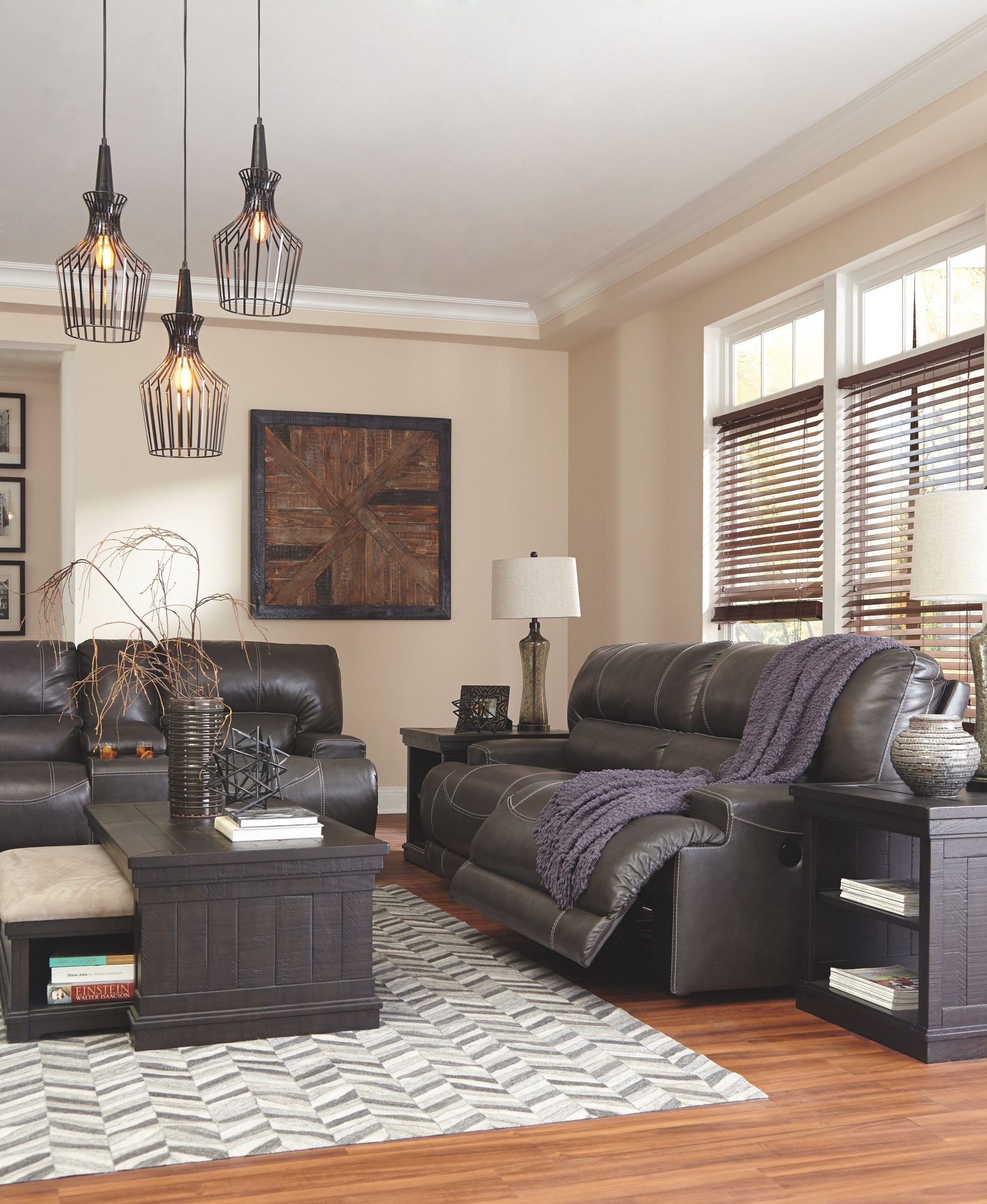Gray Leather Living Room Furniture Mccaskill Power Reclining Sofa Gray Leather Living Room Leather Leather Couches Living Room Couches Living Room