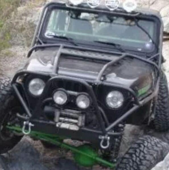 Jeep Tj Lj Exo Cage And Rear Bumper W Tirecarrier Jeep Tj Jeep Jeep Bumpers
