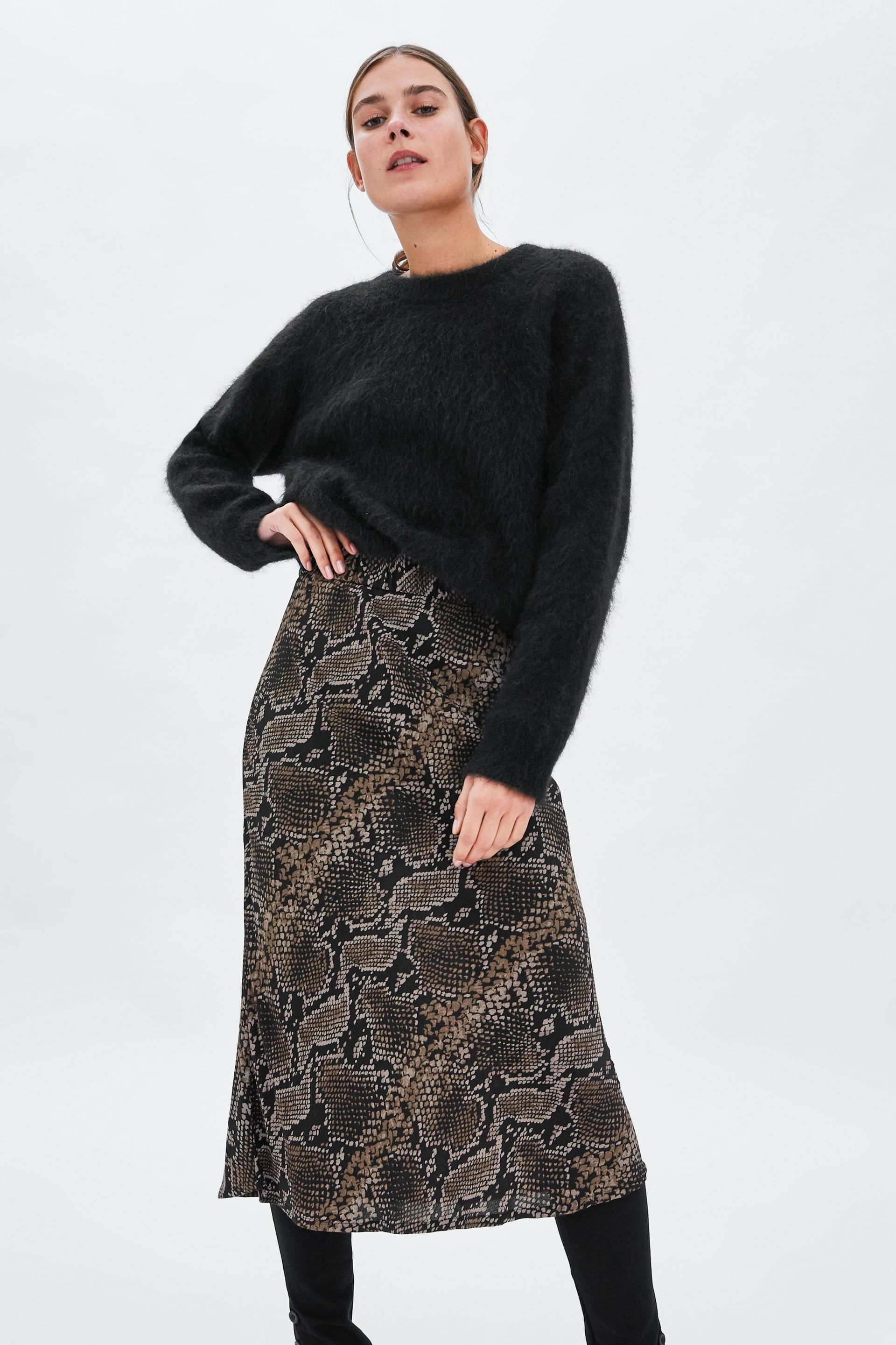 7dfa34a07 Image 2 of SNAKESKIN PRINT SKIRT from Zara | 18 October 2018 in 2019 ...