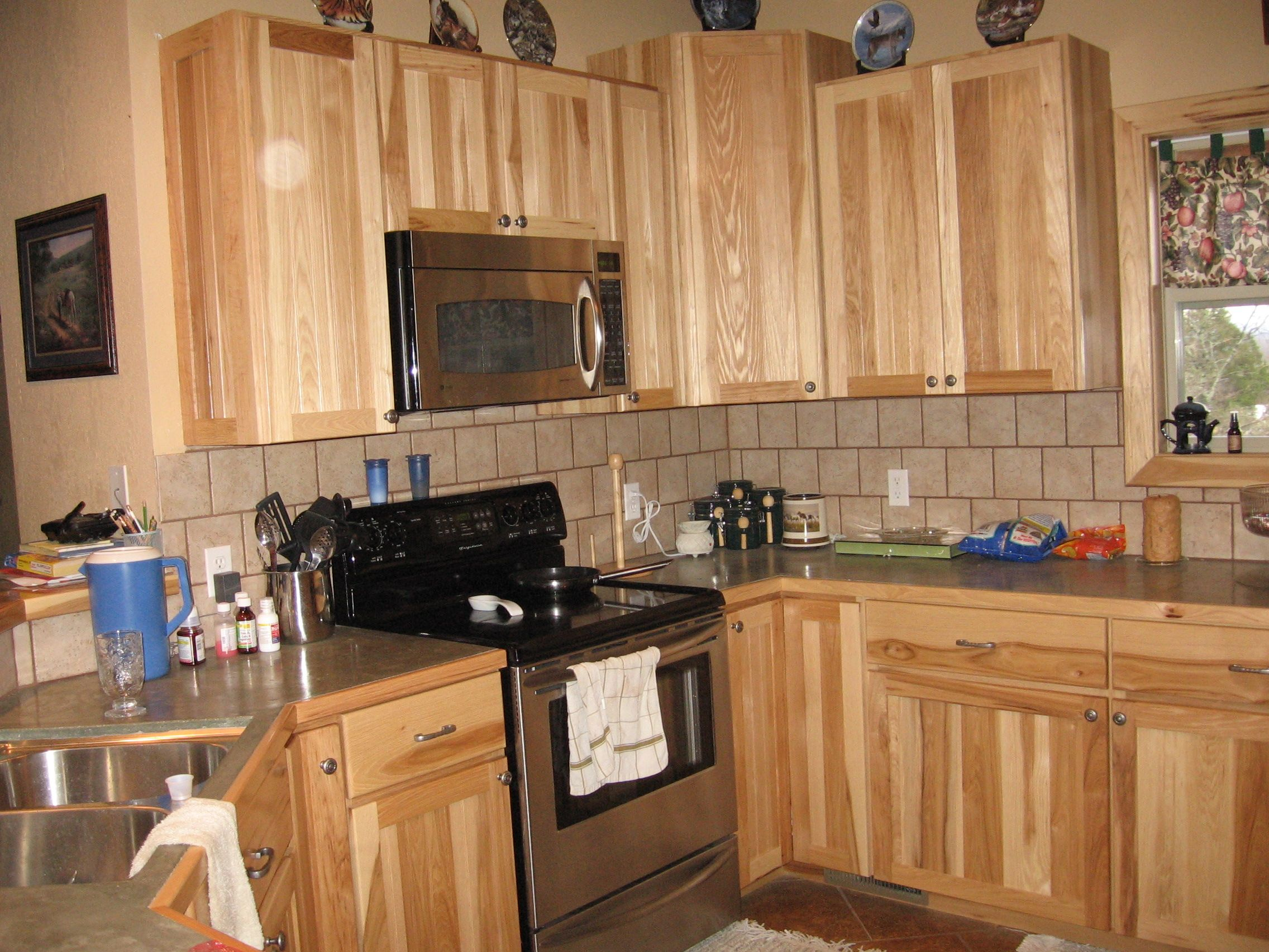 hampton natural hickory kitchen cabinets hampton bay kitchen cabinets Hickory Kitchen Cabinets Inc Al Other Custom Woodworking