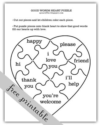 Our Words. Includes activity for learning about how words