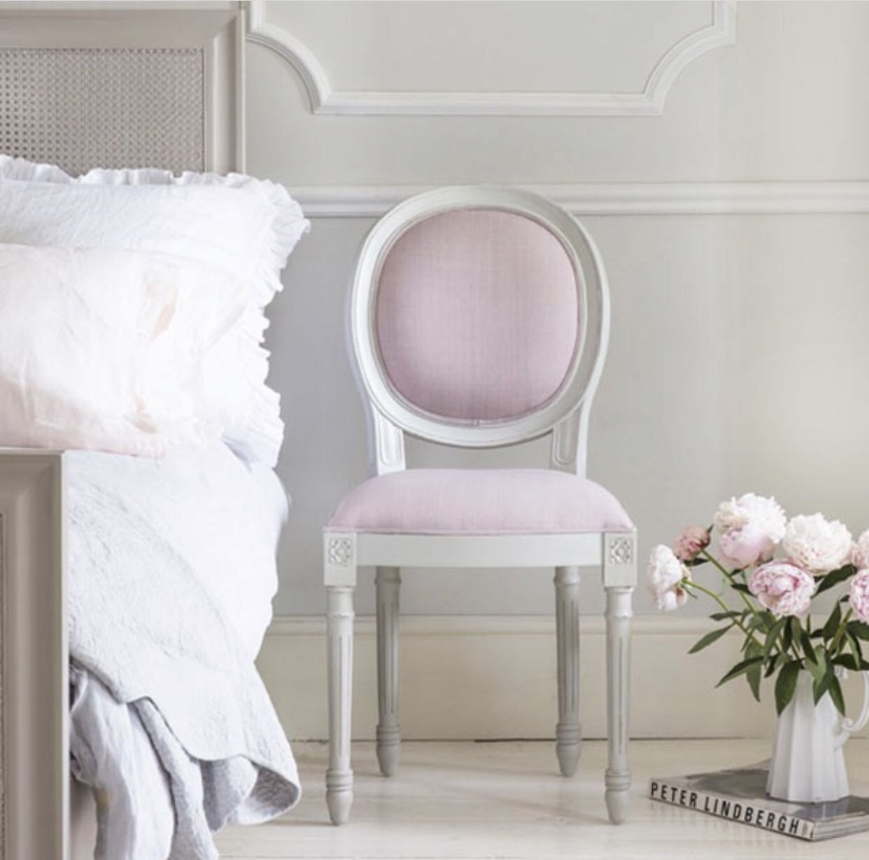 Gorgeous French pink chair  Pink bedroom decor, French chairs