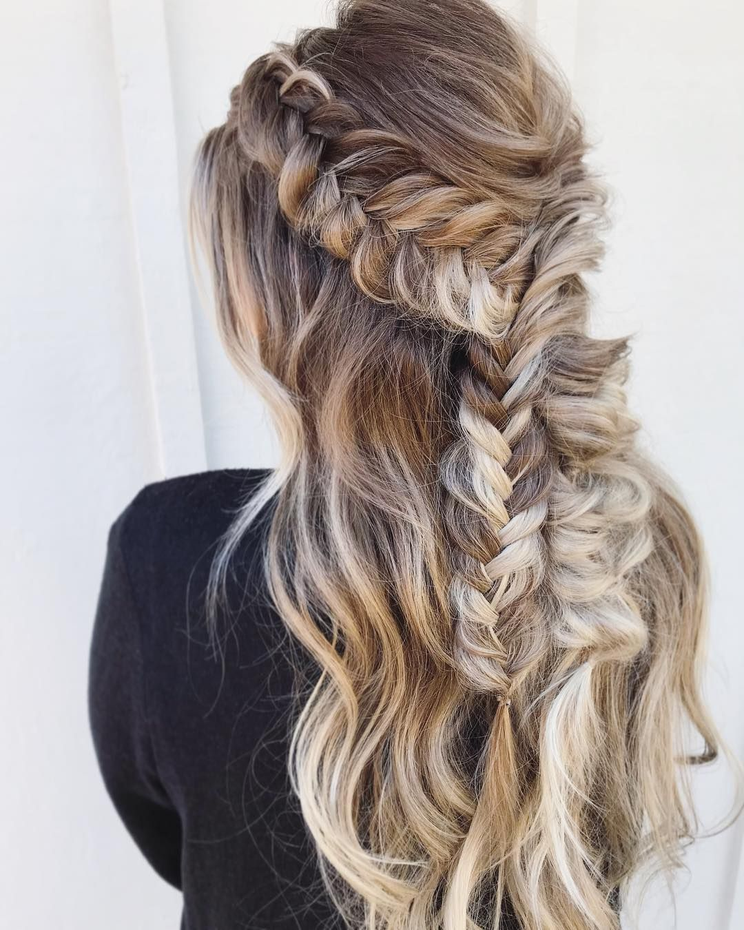 Beautiful Braided Half Up Half Down Hairstyle