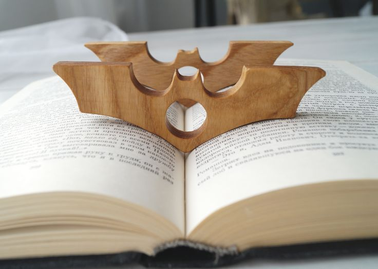 Gift for him wooden page holder batman thumb page holder