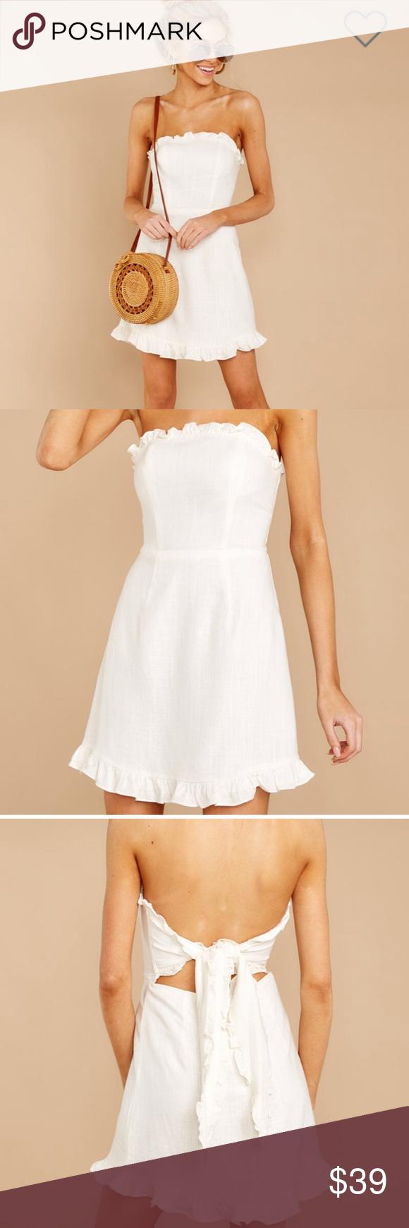 Nwt Red Dress Boutique Strapless Mini Dress Red Dress Boutique White Ruffle Dress Strapless Mini Dress [ 1740 x 580 Pixel ]