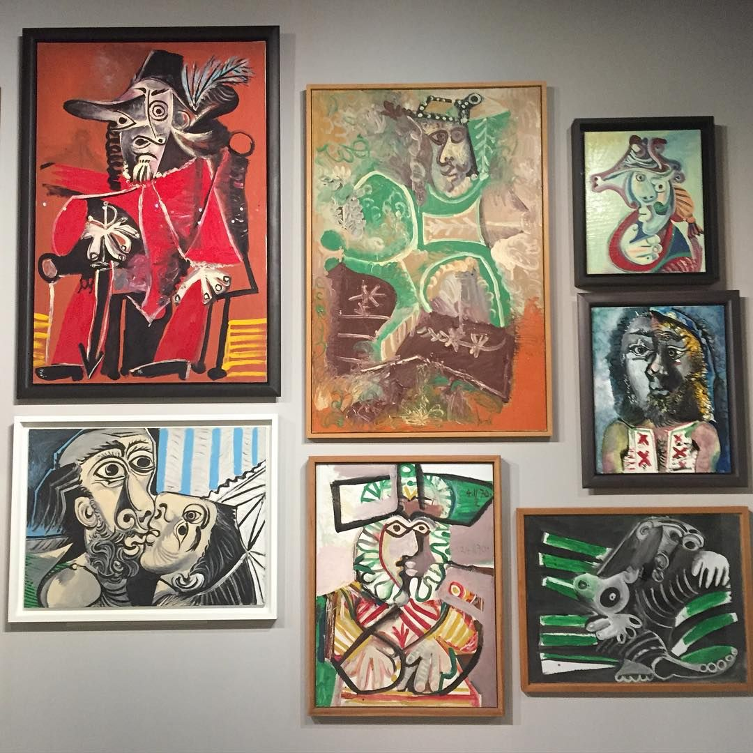 gallery wall of PIcassos,  via @habituallychic