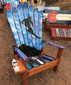 Photo of Skier Art Adirondack Ski Chair