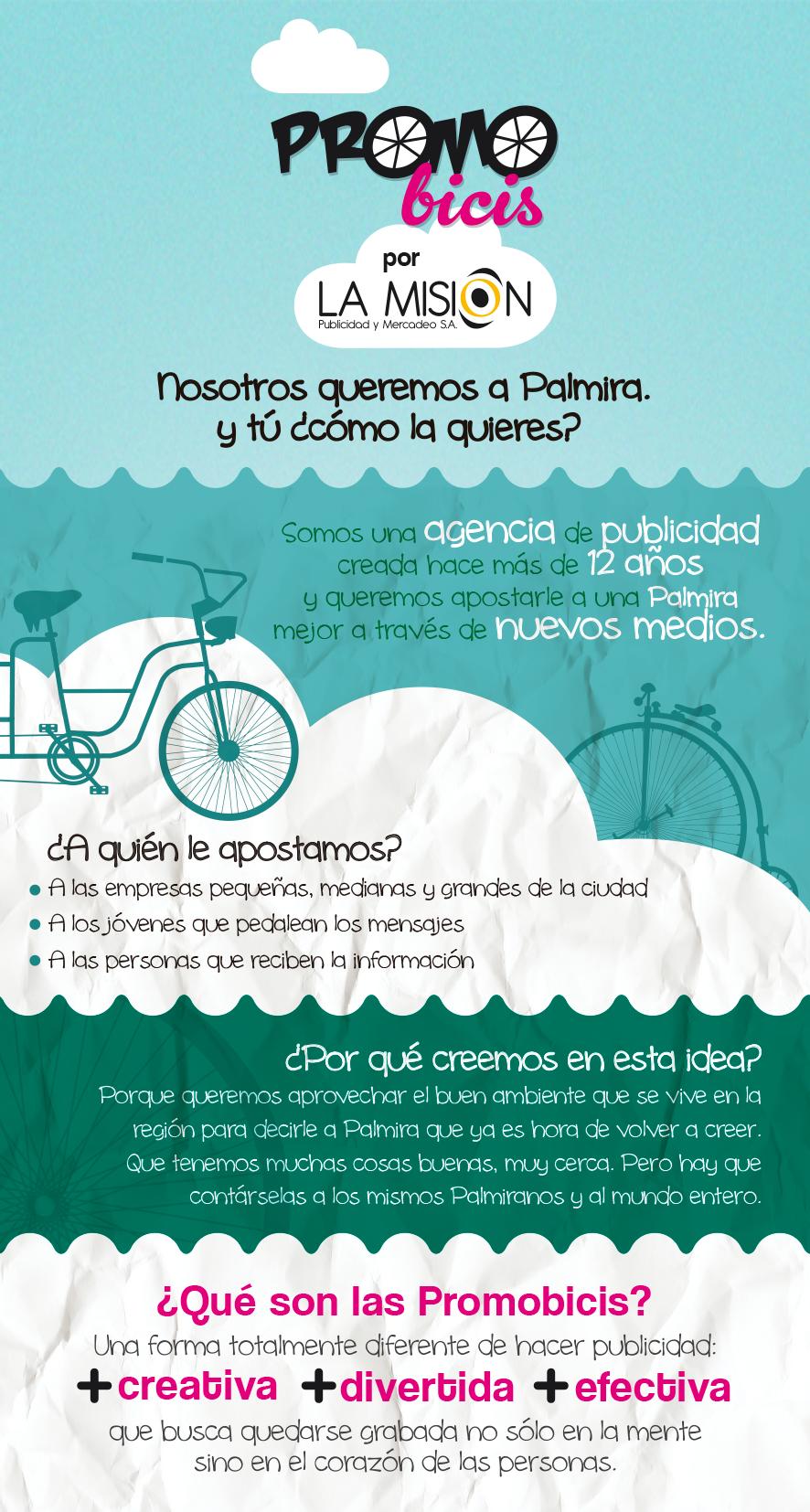 Infografía 2 Promobici Lamisionpublicidad Agencia De Publicidad Diseños De Piezas Disenos De Unas