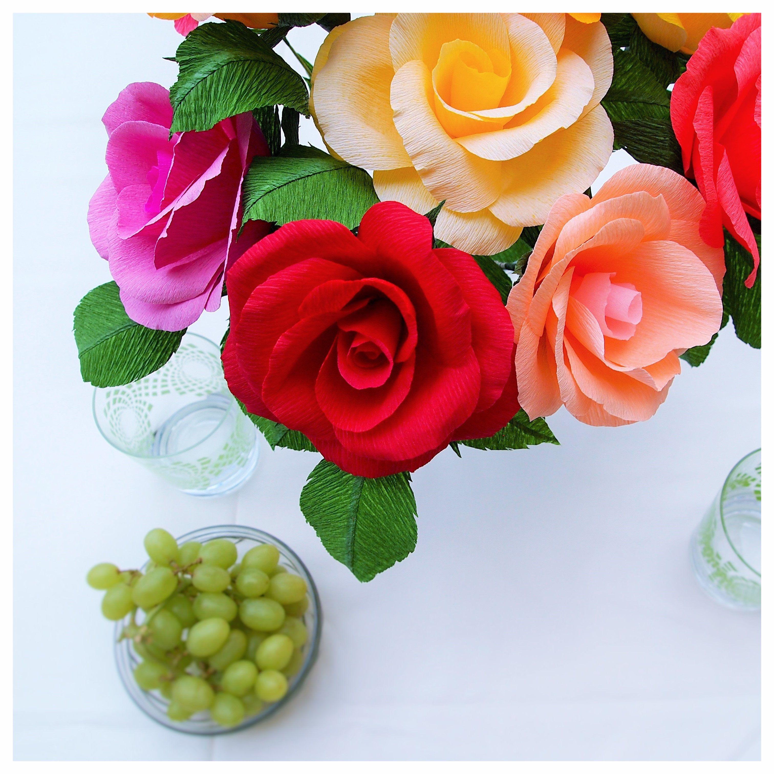 The freshness of the autumn handmade crepe paper roses by amelis handmade crepe paper roses by amelis lovely creations mightylinksfo