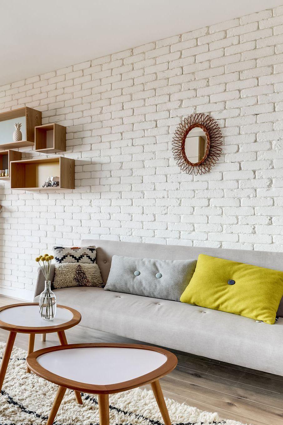Décoration salon : 18 idées avec un canapé gris  Canapé gris
