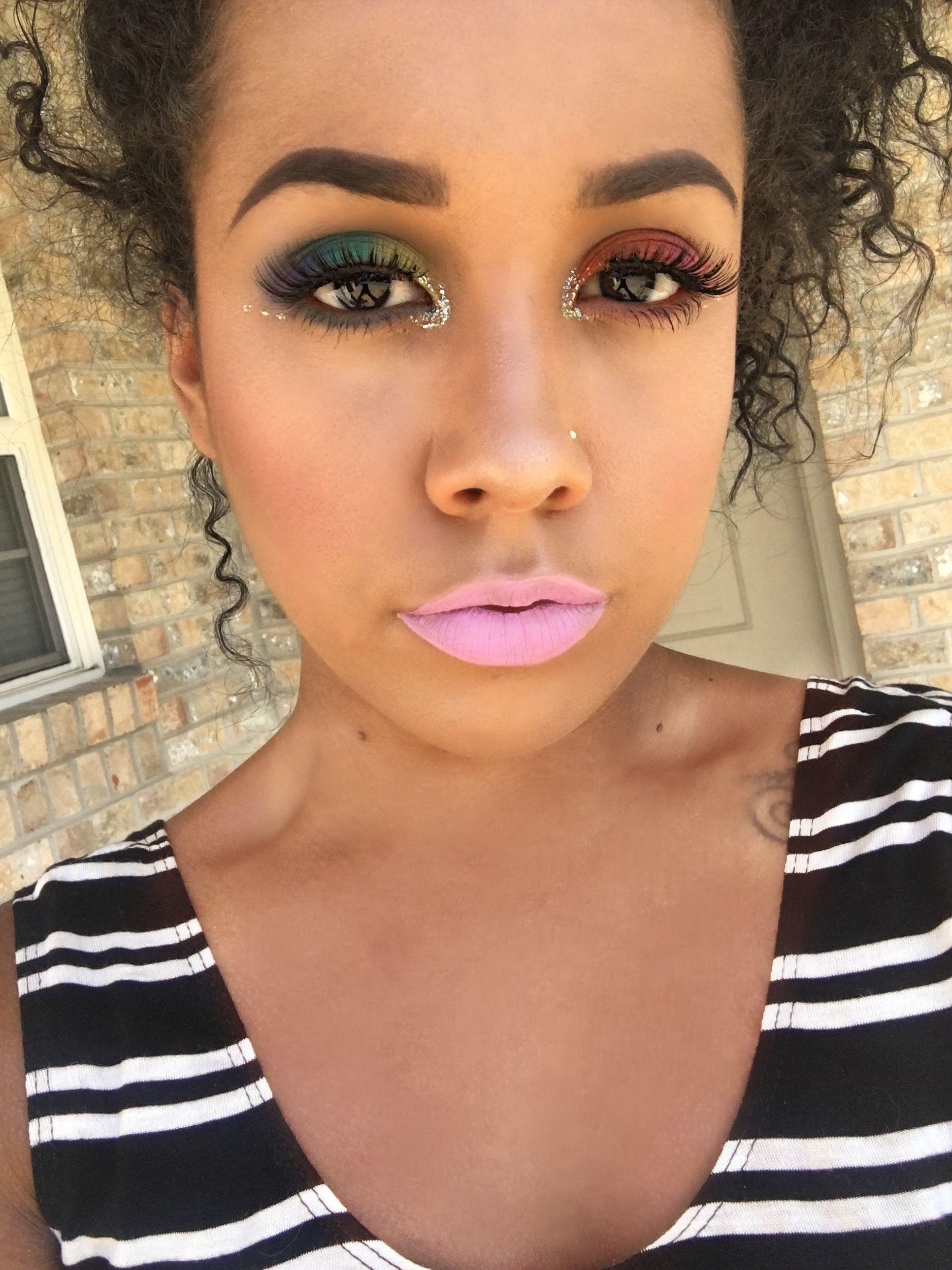 Orlando tragedy tribute makeup look splitwhit Matte lip