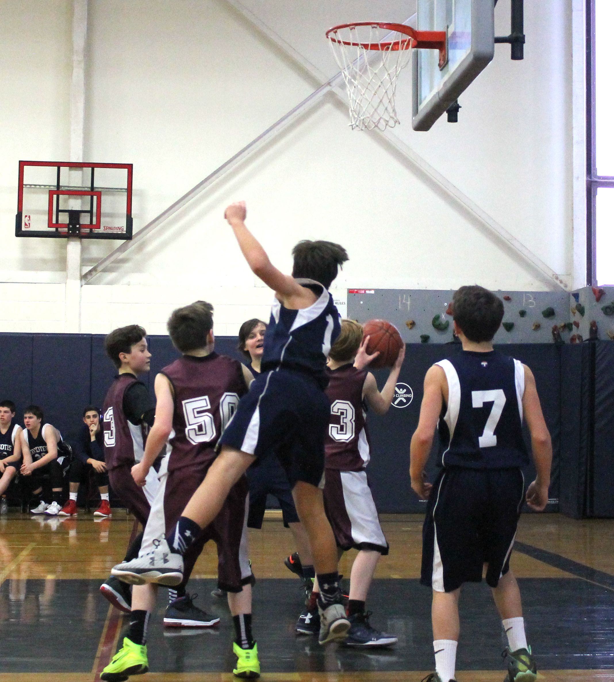 Boys' JV win over St. John's Physical education, School