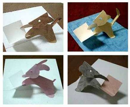 Animal Papercraft Template And Pattern For Pop Up Card Set 1 Diy Pop Up Cards Diy Pop Up Cards Templates Pop Up Card Templates