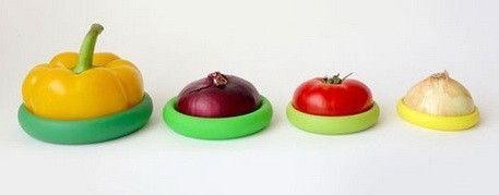Food huggers - saves half used fruits and veggies