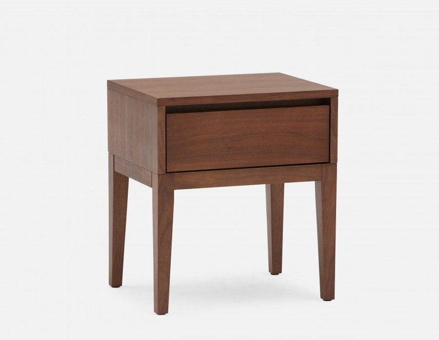 Cino Walnut Walnut Veneer Bedside Table Structube Table De Chevet Moderne Table De Chevet Bois Table De Chevet