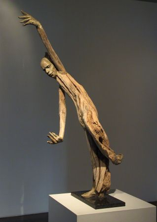 Susan Clinard - Finding Her Balance - driftwood and clay