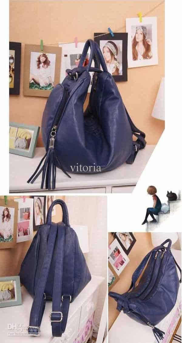 Convertible Hobo Bag Backpack Whole Womens Style Pu Leather Purse Multi Function Shoulder Las Handbag Tassel Bags 9088