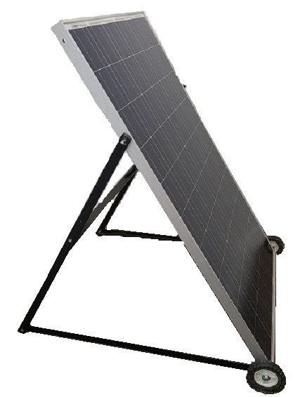 Heavy Duty Solar Panel Steel Stand W Wheels Total Solar Technologies Solar Solar Panels For Home Luxury Landscaping
