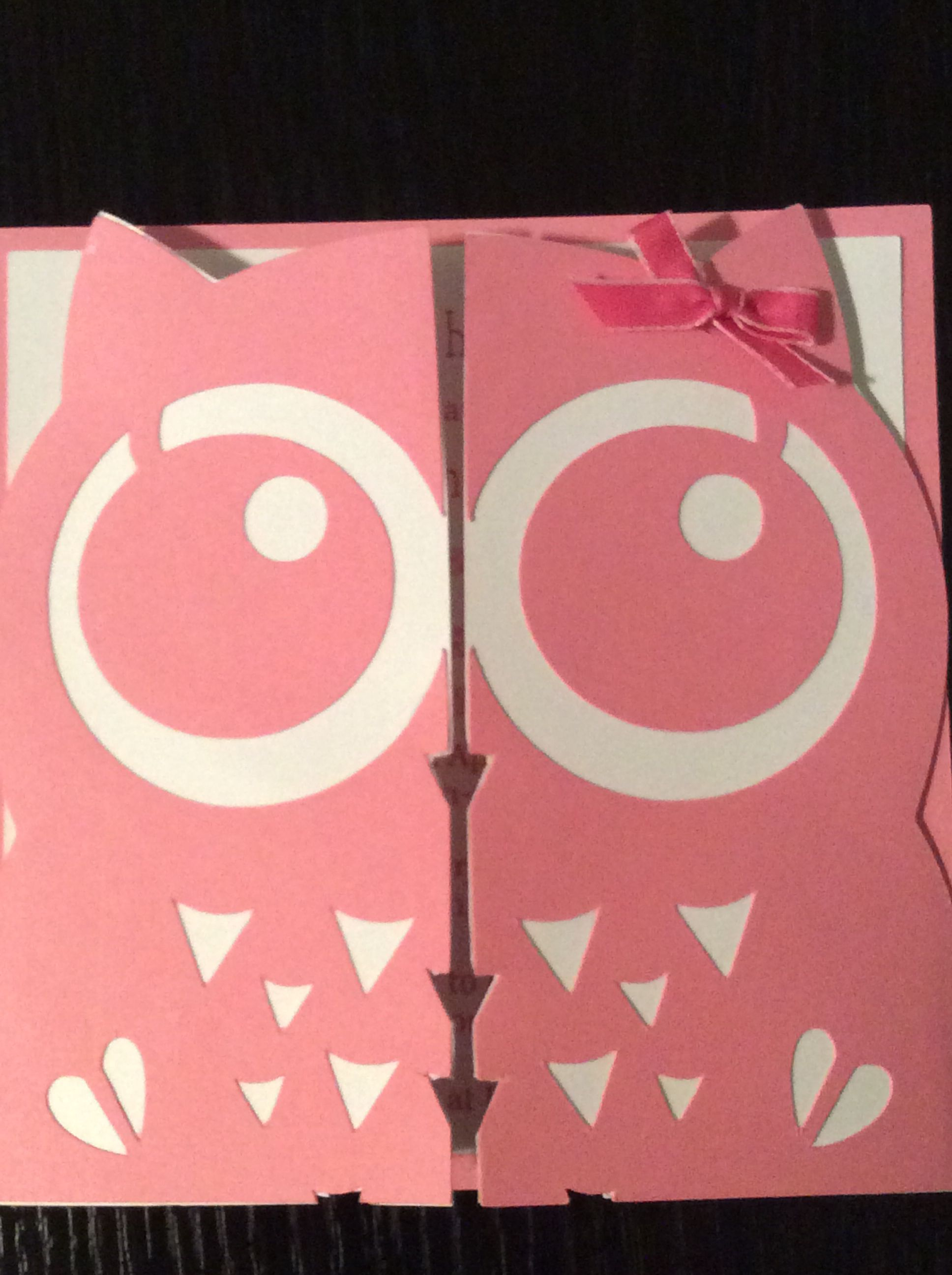 Owl themed baby shower invite made with Silhouette Cameo | Stuff I ...