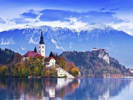 Church of Assumption Bled Lake, Slovenia