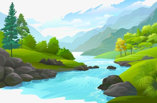 Landscape Vector Beautiful Scenery Png And Vector With Transparent Background For Free Download Landscape Illustration Nature Vector Landscape