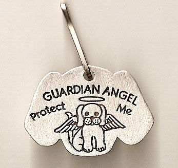 Guardian Angel Pet Tag for Dog #catholicsupplies #pets  #DiscountCatholic   #PinAWin