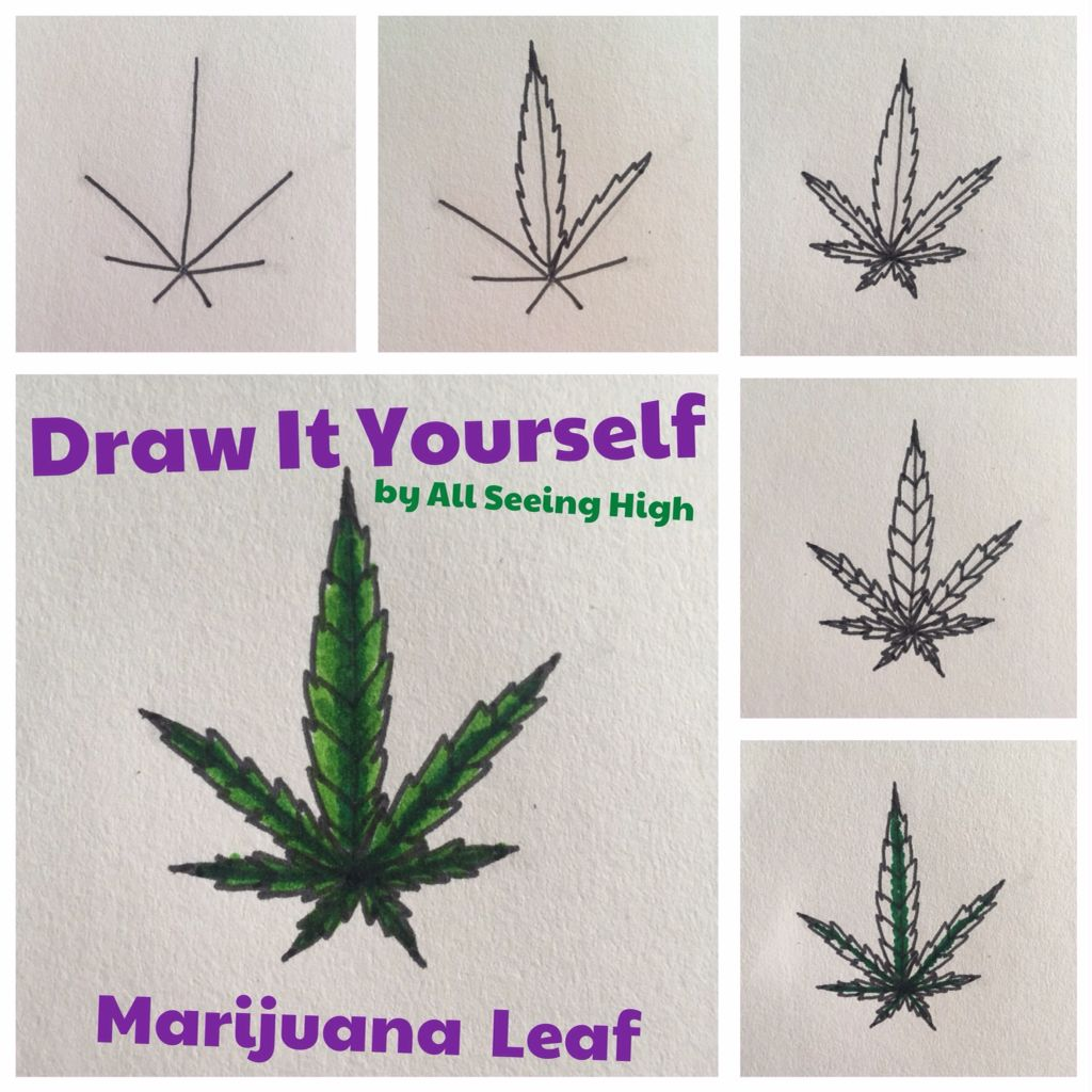 Draw It Yourself DIY Marijuana Leaf by All Seeing High ...