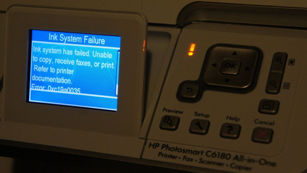 How to Fix HP Printer Error Code 0xc19a0013 (Ink System