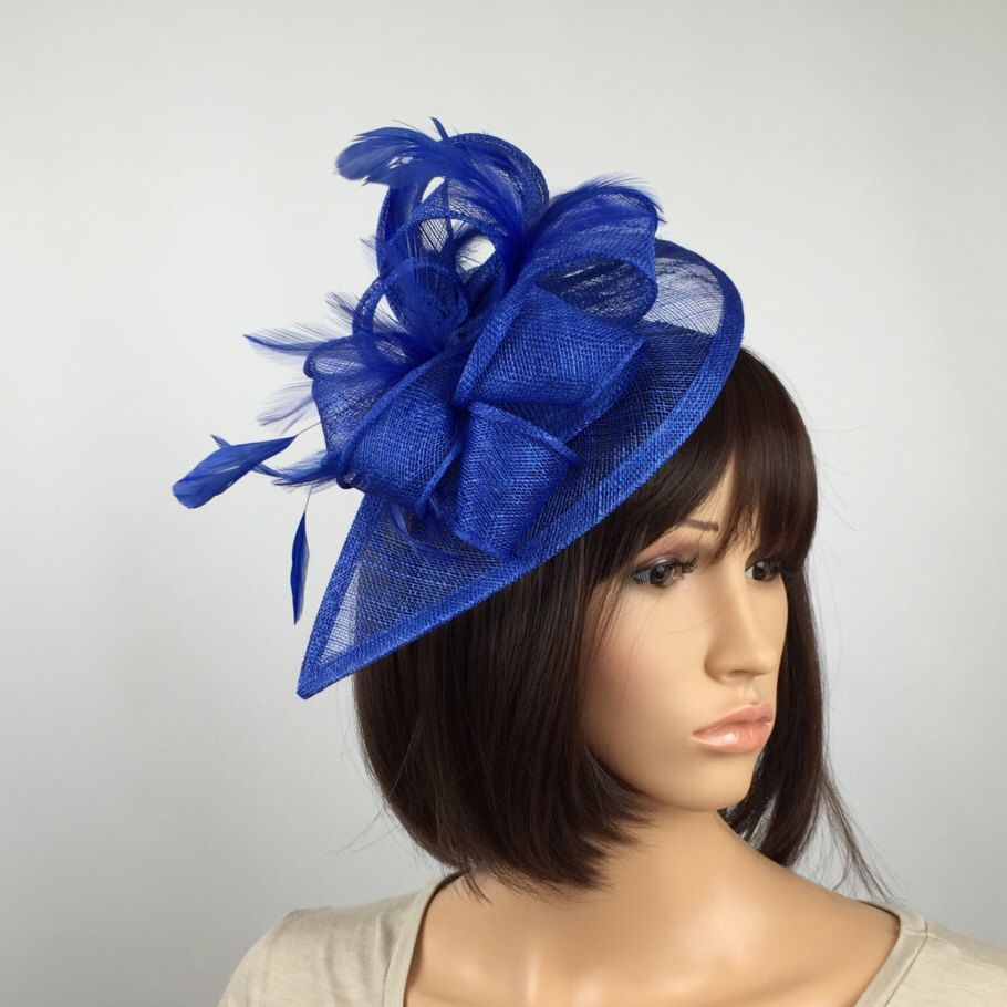 Excited to share the latest addition to my  etsy shop  Royal Blue  Fascinator teardrop Sinamay Fascinator wedding mother bride Ladies Day    Ascot races e3ef08df306