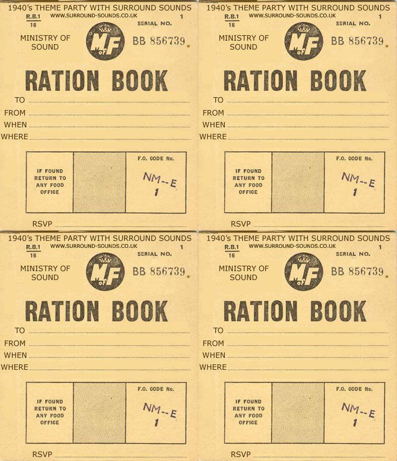 picture about Ration Book Ww2 Printable referred to as Pin upon Plans for the 1940s WW2 topic social gathering