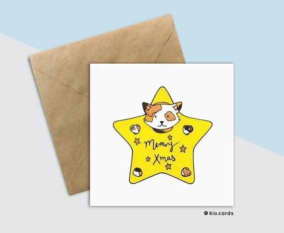 Meowy Christmas, Cat Christmas Card, Kitty Christmas, Card For Cat Lover, Funny Cat Christmas Card, Crazy Cat Lady, Kids Christmas Card ,  #card #Cat #Christmas #Crazy #Funny #funnycatschristmas #kids #Kitty #Lady #lover #Meowy