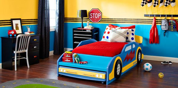 Race Car Bedroom DIY Projects Rev Up Your Bedroom With Five Speedy  Racetrack Themed Projects. Paint Tire Tracks On The Walls, Add A Race Car  Bed, ...