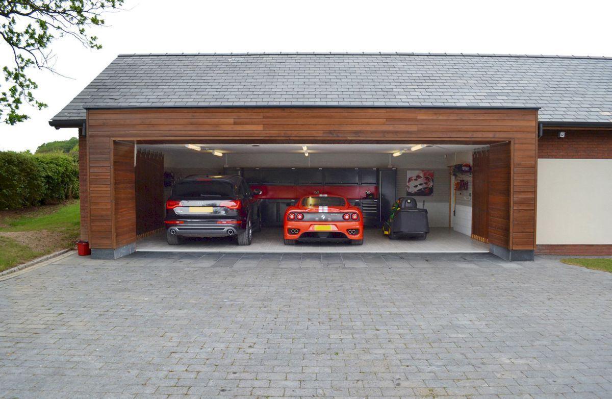 Adorable modern carports garage designs ideas (43) Навес