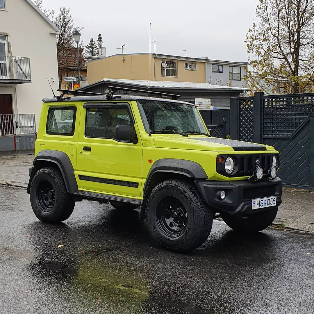 The New Suzuki Jimny Takes Well To Some Basic Modifications Hats Off Icelandcarculture Carspottingreykjavik Suzu New Suzuki Jimny Suzuki Jimny Suzuki News