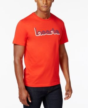 51942ad46fe8 Lacoste Men's Graphic Print Cotton T-Shirt - Red 3XL | Products ...