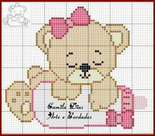 Pin de Amelia N. Munoz en Bordado Infantil | Pinterest | Punto de ...