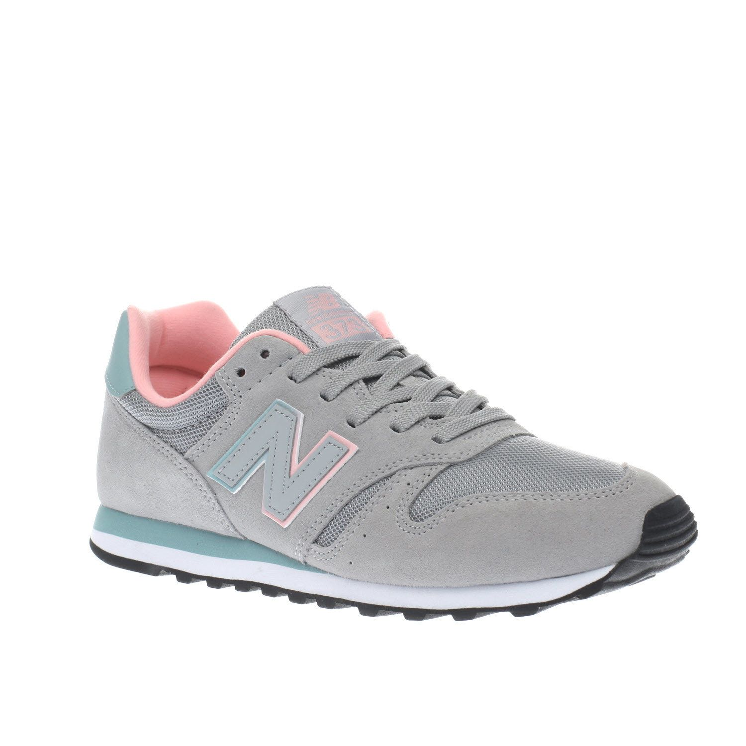 8eabea7eb4 Womens Light Grey New Balance 373 V1 Suede Trainers | schuh | shoes ...