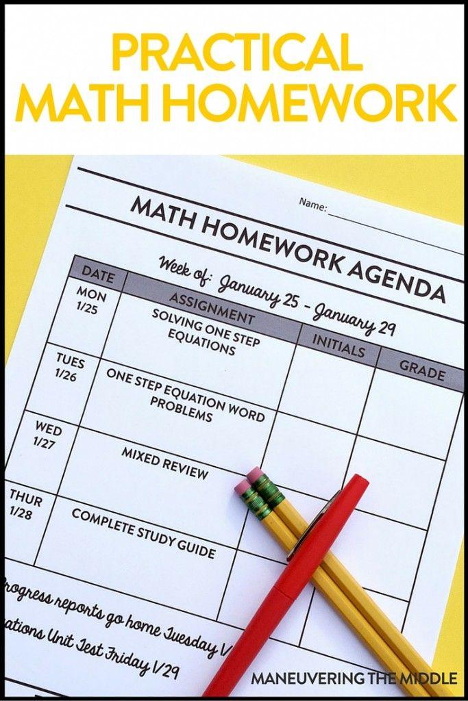 Practical Math Homework Ideas | Homework, Maths and School