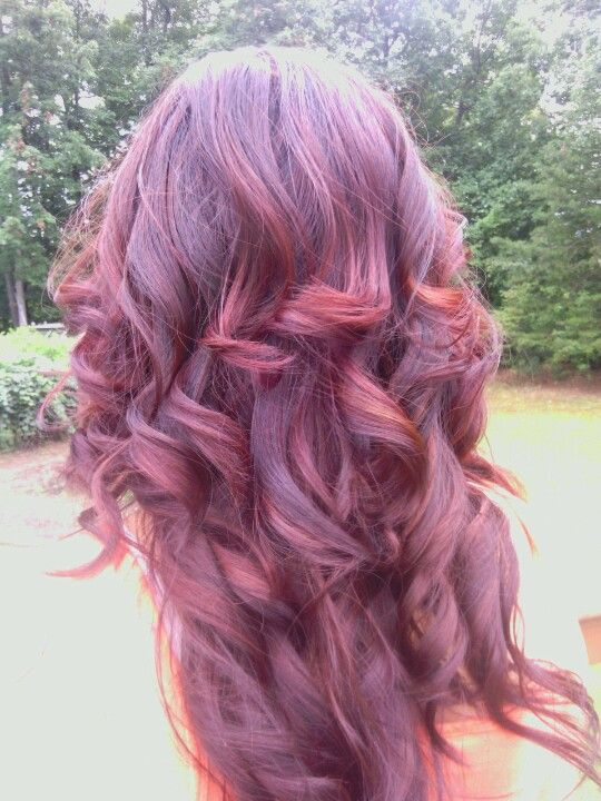 Dark Burgundy Hair With Red Highlights With Black Underneath Is What