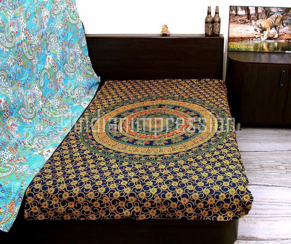 Hippie Indian Decor Mandala Tapestry Wall Hanging Throw Bohemian Twin Bedspread